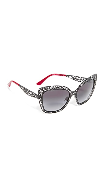 Dolce & Gabbana Lace Sunglasses - Black/Grey