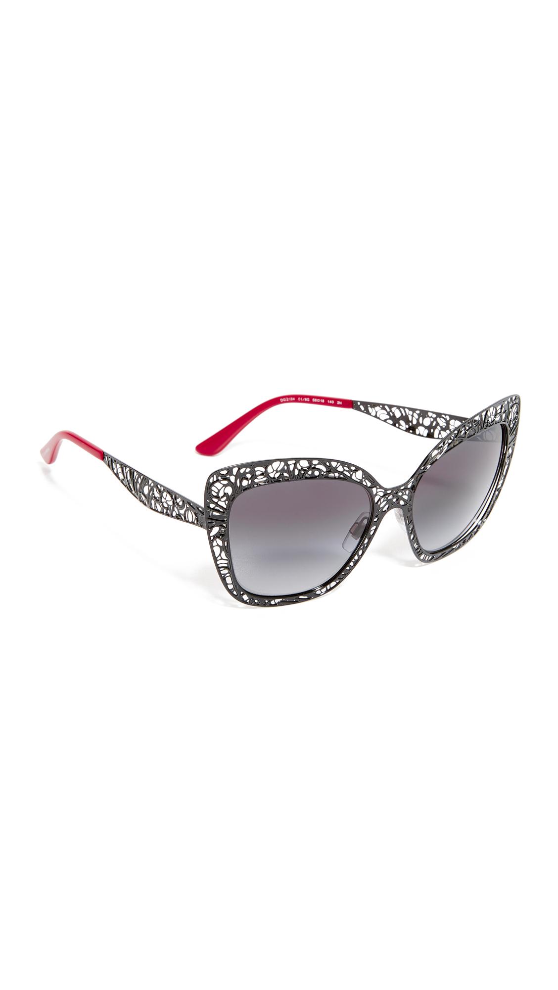 Dolce & Gabbana Lace Sunglasses - Black/Grey at Shopbop