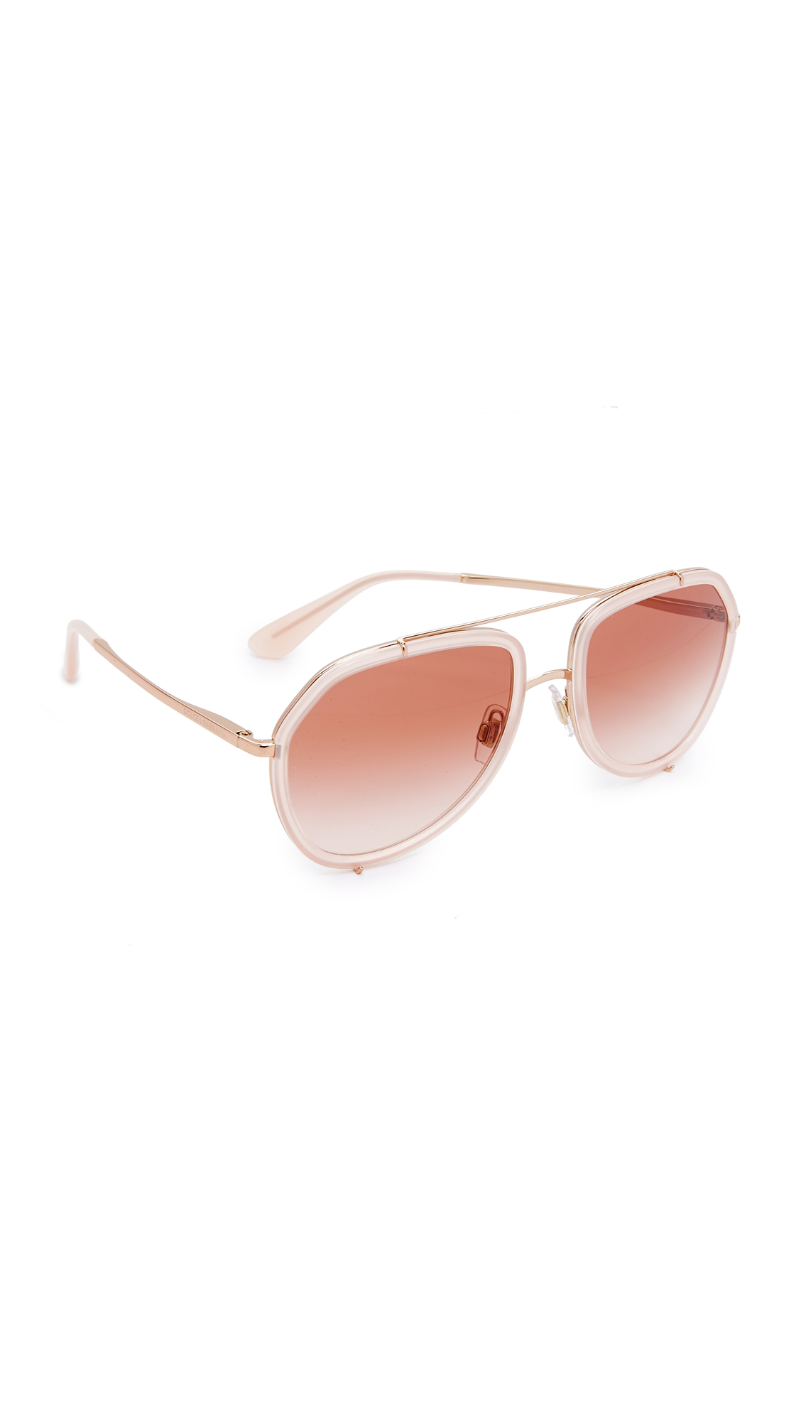 Dolce & Gabbana Aviator Sunglasses - Opal Pink/Pink at Shopbop