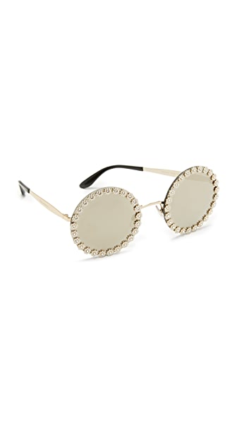 Dolce & Gabbana Daisy Round Sunglasses