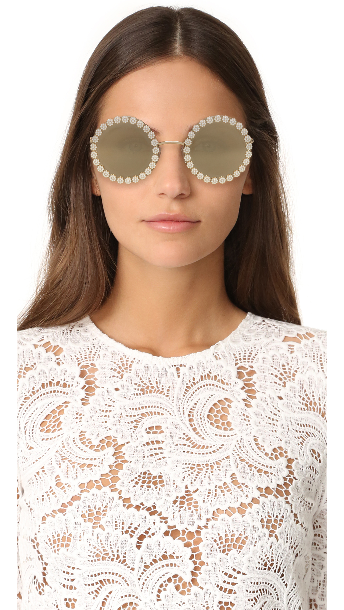 f794488cb01 Dolce   Gabbana Daisy Round Sunglasses