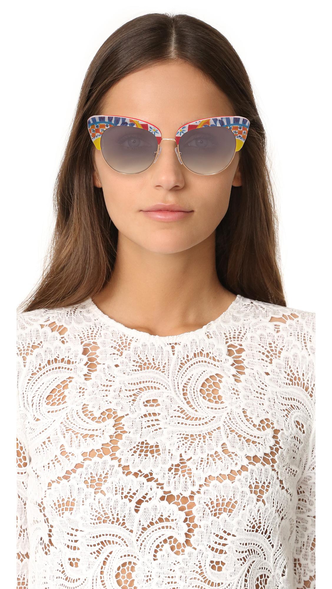 c99b2be9a11c Dolce   Gabbana Mambo Cat Eye Sunglasses