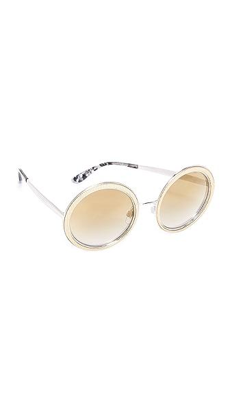 Dolce & Gabbana Grosgrain Round Sunglasses at Shopbop