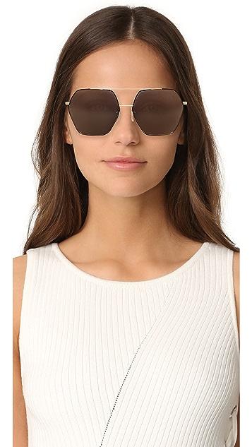 Dolce & Gabbana Geometric Aviator Sunglasses