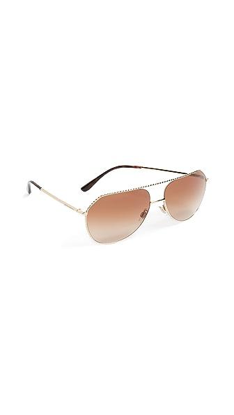 Dolce & Gabbana Ortensia Aviator Sunglasses at Shopbop