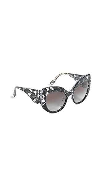Dolce & Gabbana Lace Ortensia Extreme Cat Sunglasses at Shopbop
