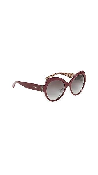 Dolce & Gabbana Ortensia Cat Sunglasses at Shopbop
