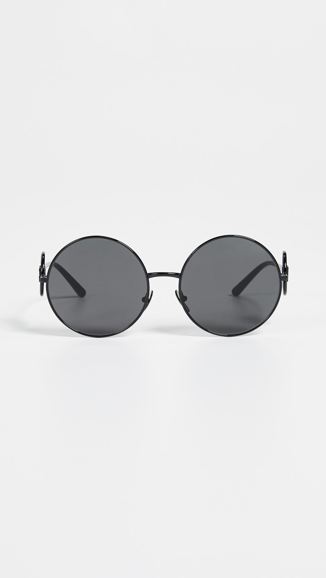 96f5e178588d Dolce & Gabbana Sicilian Sweet Round Sunglasses | SHOPBOP