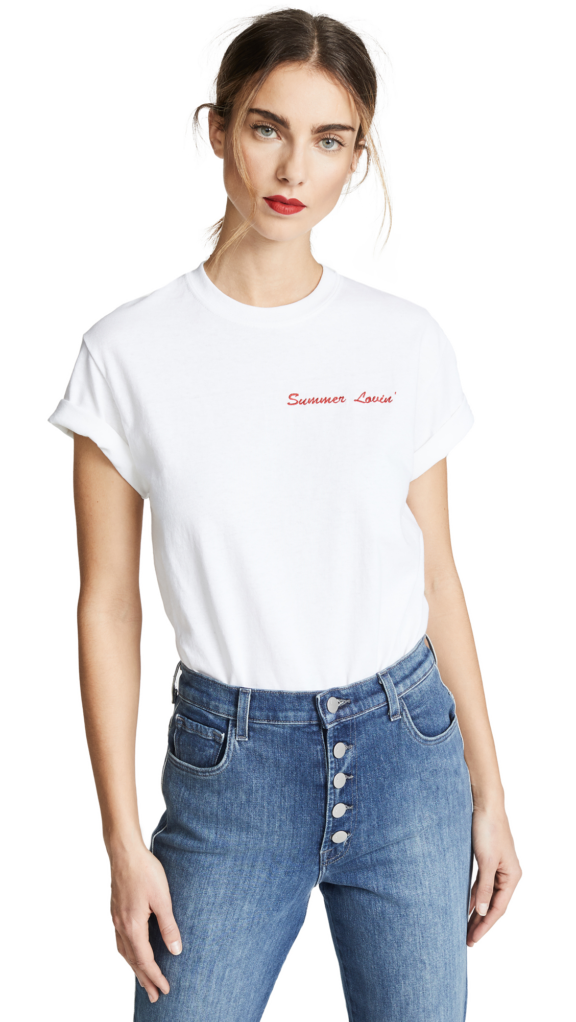 DOUBLE TROUBLE GANG Summer Lovin Tee in White