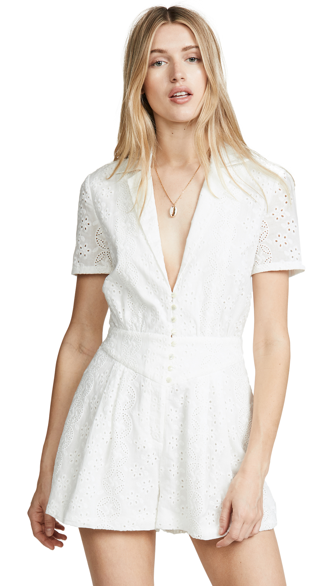 Buy Divine Heritage online - photo of Divine Heritage Collared Button Up Pleated Romper