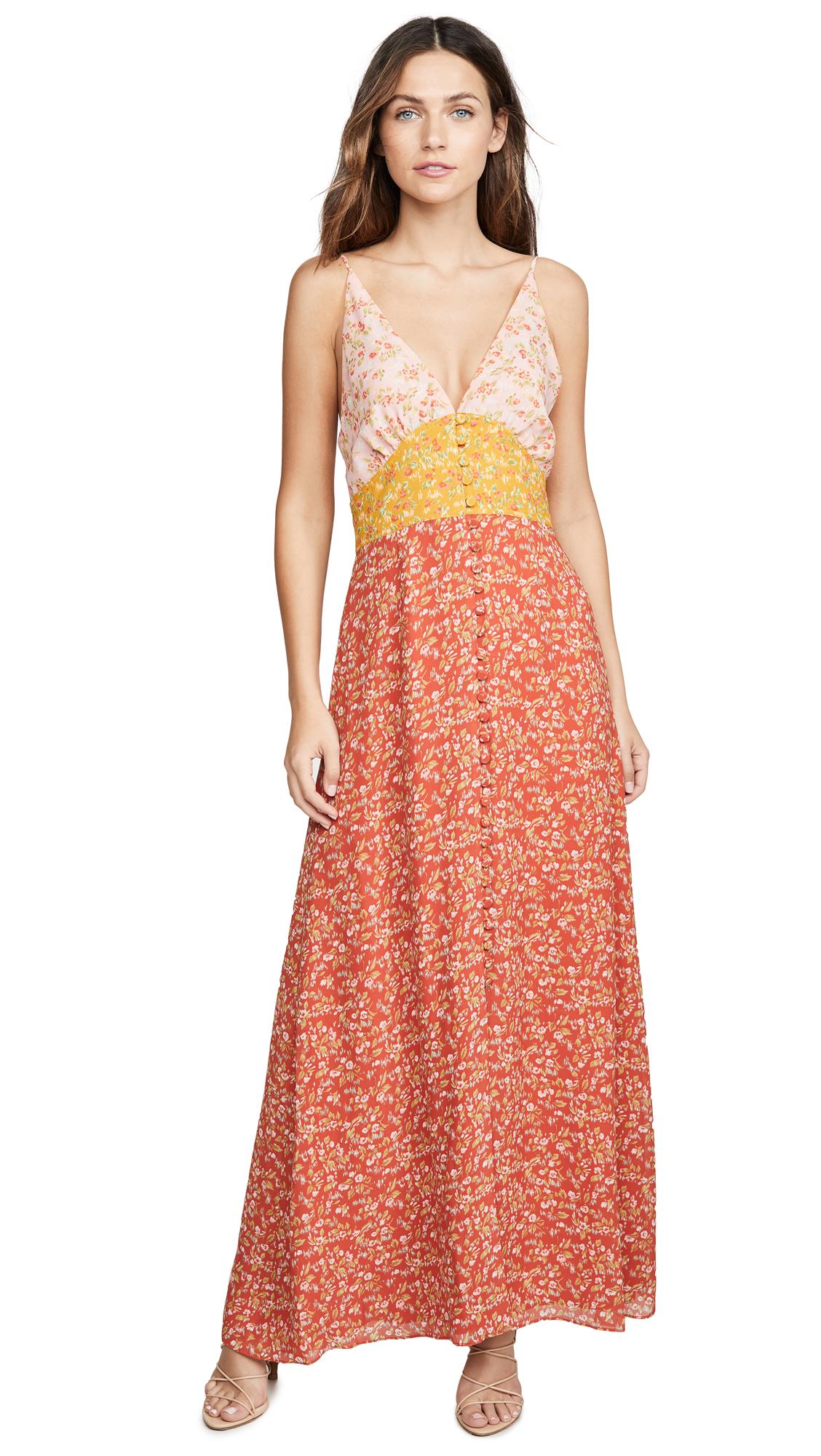 Buy Divine Heritage online - photo of Divine Heritage Sleeveless Colorblock Maxi Dress