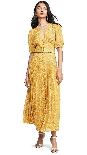 Divine Heritage Short Sleeve Belted Maxi Dress