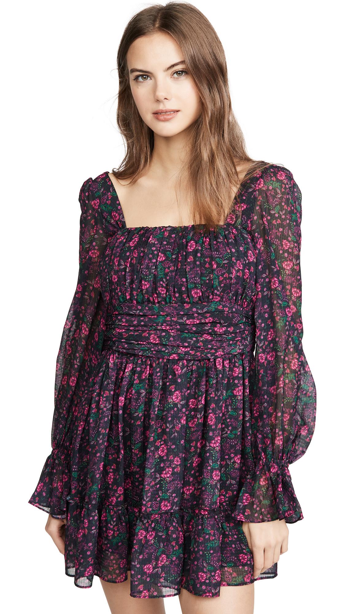 Buy Divine Heritage Long Sleeve Square Neck Mini Dress online beautiful Divine Heritage Clothing, Dresses