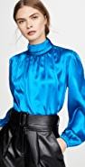 Divine Heritage Long Sleeve Turtleneck Blouse