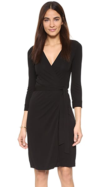 Diane Von Furstenberg New Julian Two Wrap Dress - Black