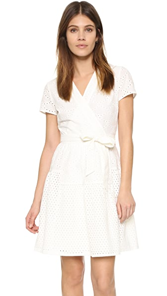 Diane Von Furstenberg Kaley Two Wrap Dress - Ivory
