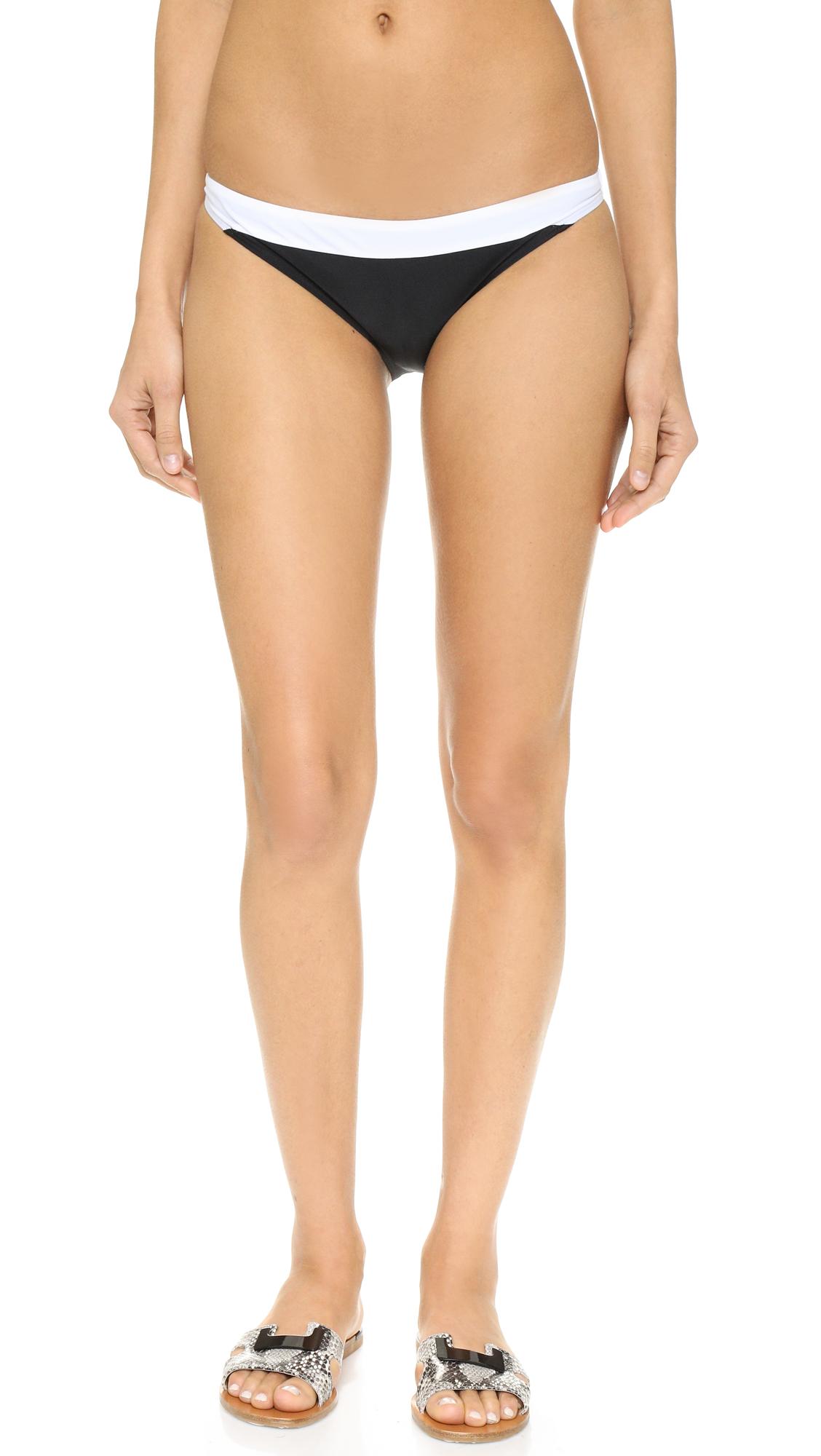 diane von furstenberg female diane von furstenberg malibu bikini bottoms blackwhite