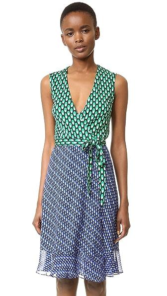 Diane Von Furstenberg Bethanie Wrap Dress - Diagonal Dots