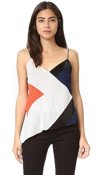 Diane von Furstenberg Kaelani Sequin Cami - Canvas White/Midnight/Orange/B