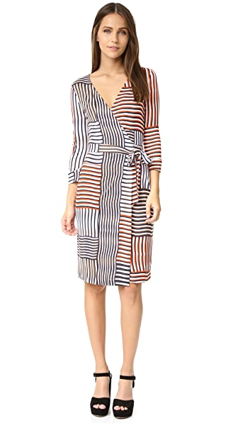 Diane Von Furstenberg New Julian Two Wrap Dress - Woven Collage