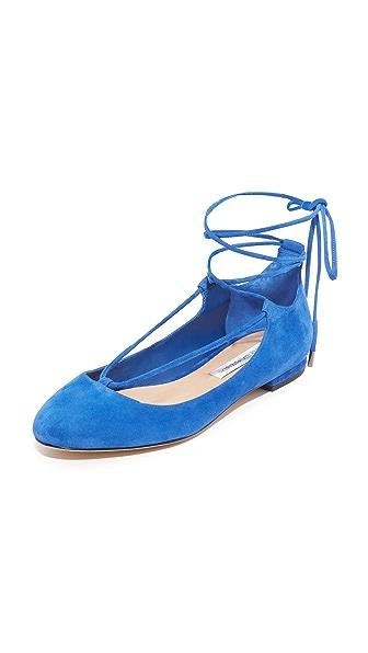 Diane von Furstenberg Paris Lace Up Flats
