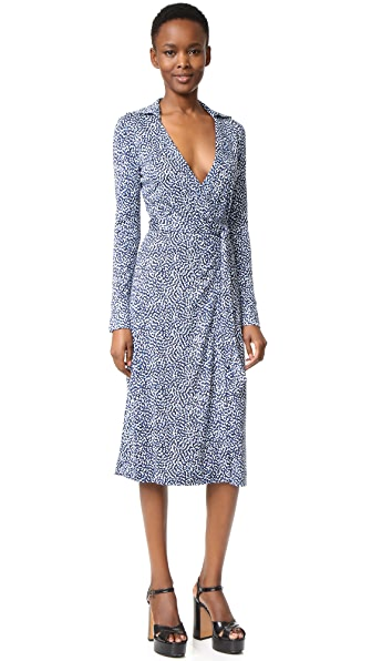 Diane Von Furstenberg Cybil Silk Wrap Dress - Beads Peacock
