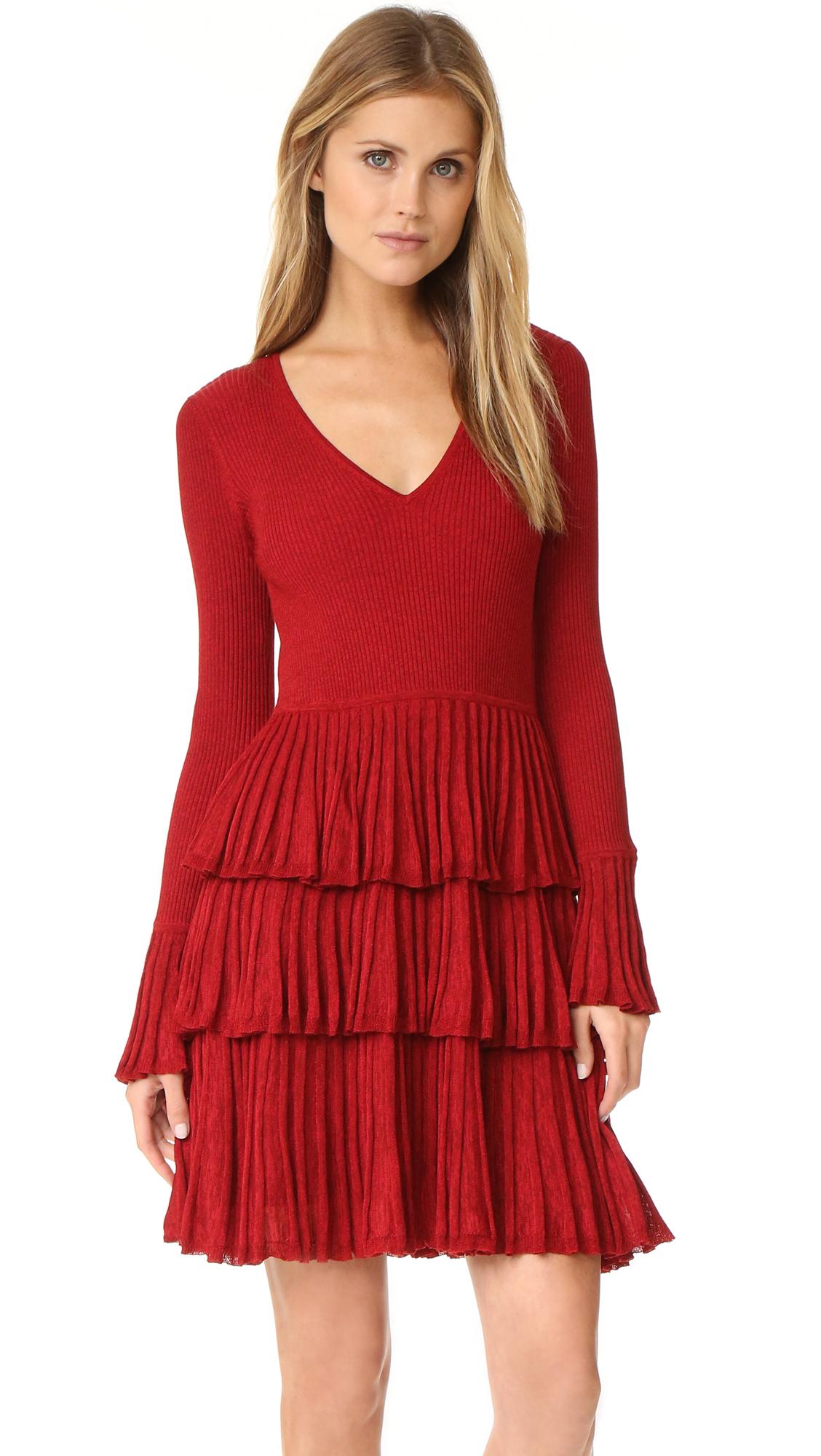 diane von furstenberg female diane von furstenberg sharlynn dress rubiate