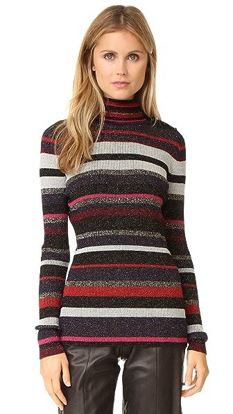 Diane von Furstenberg Leela Sweater - Royal Navy Stripe