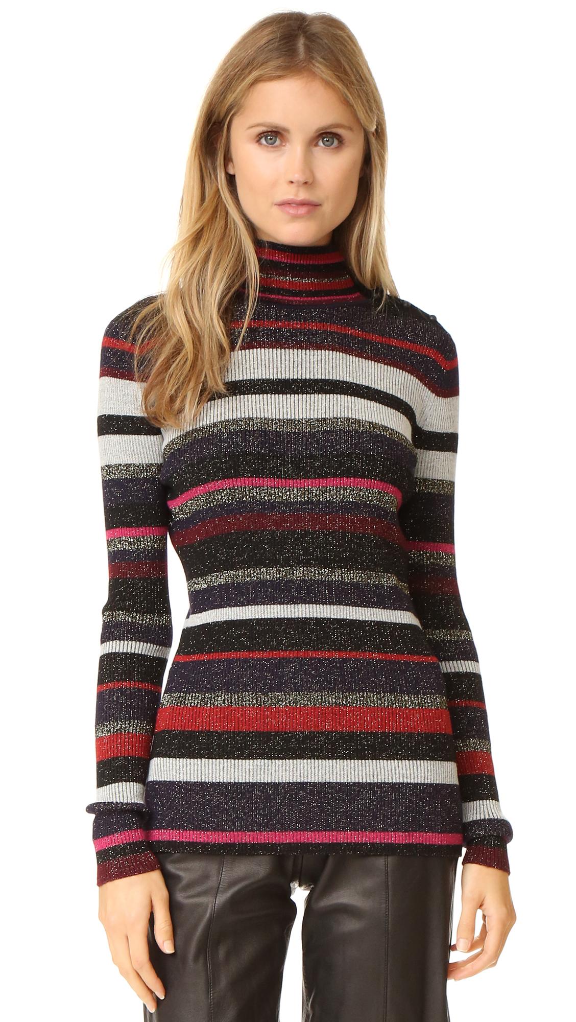 diane von furstenberg female diane von furstenberg leela sweater royal navy stripe