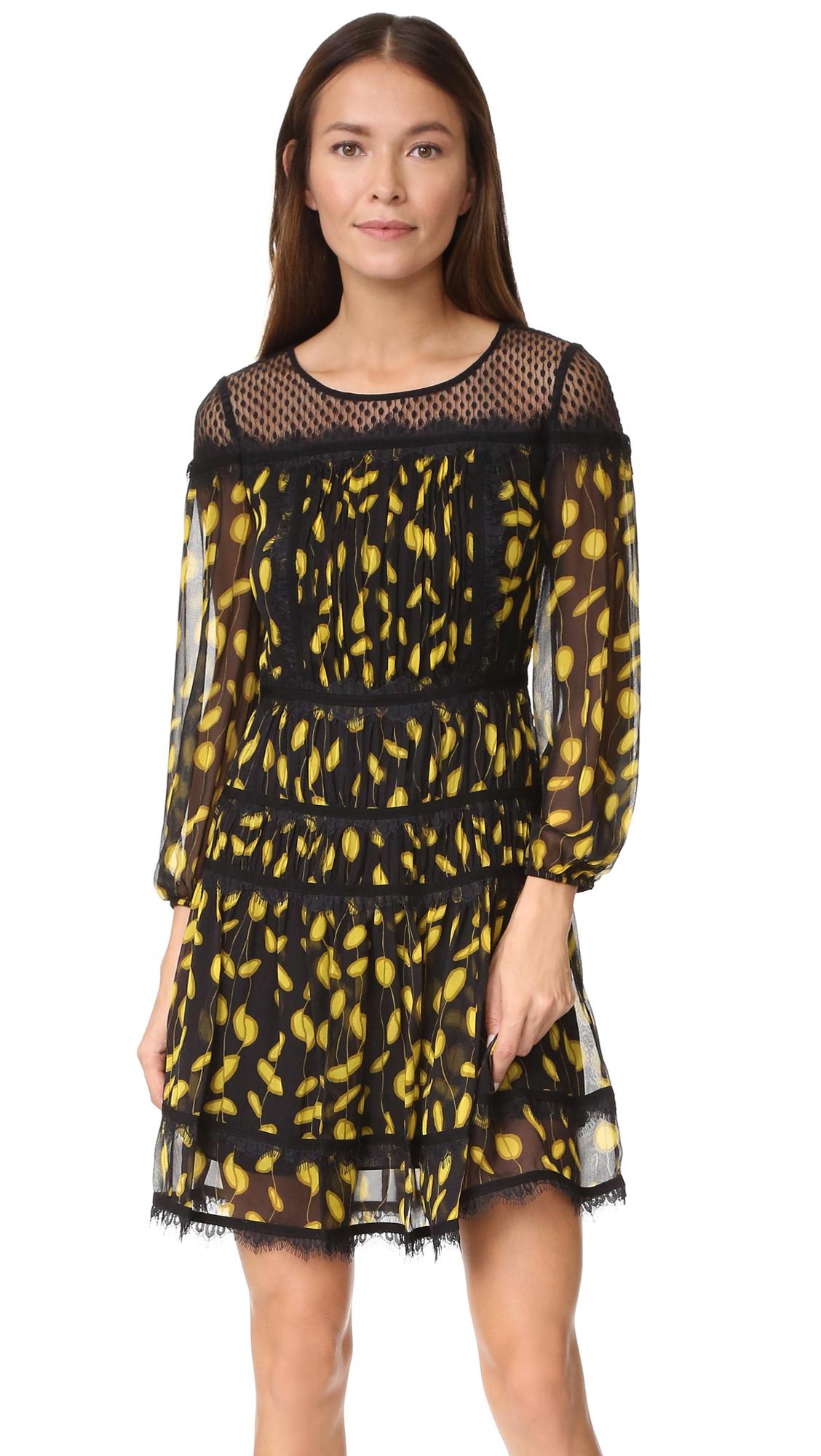 diane von furstenberg female diane von furstenberg jamie dress glissade citronelleblack