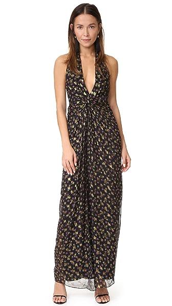 Diane von Furstenberg Evelina Maxi Dress - Tendu Black