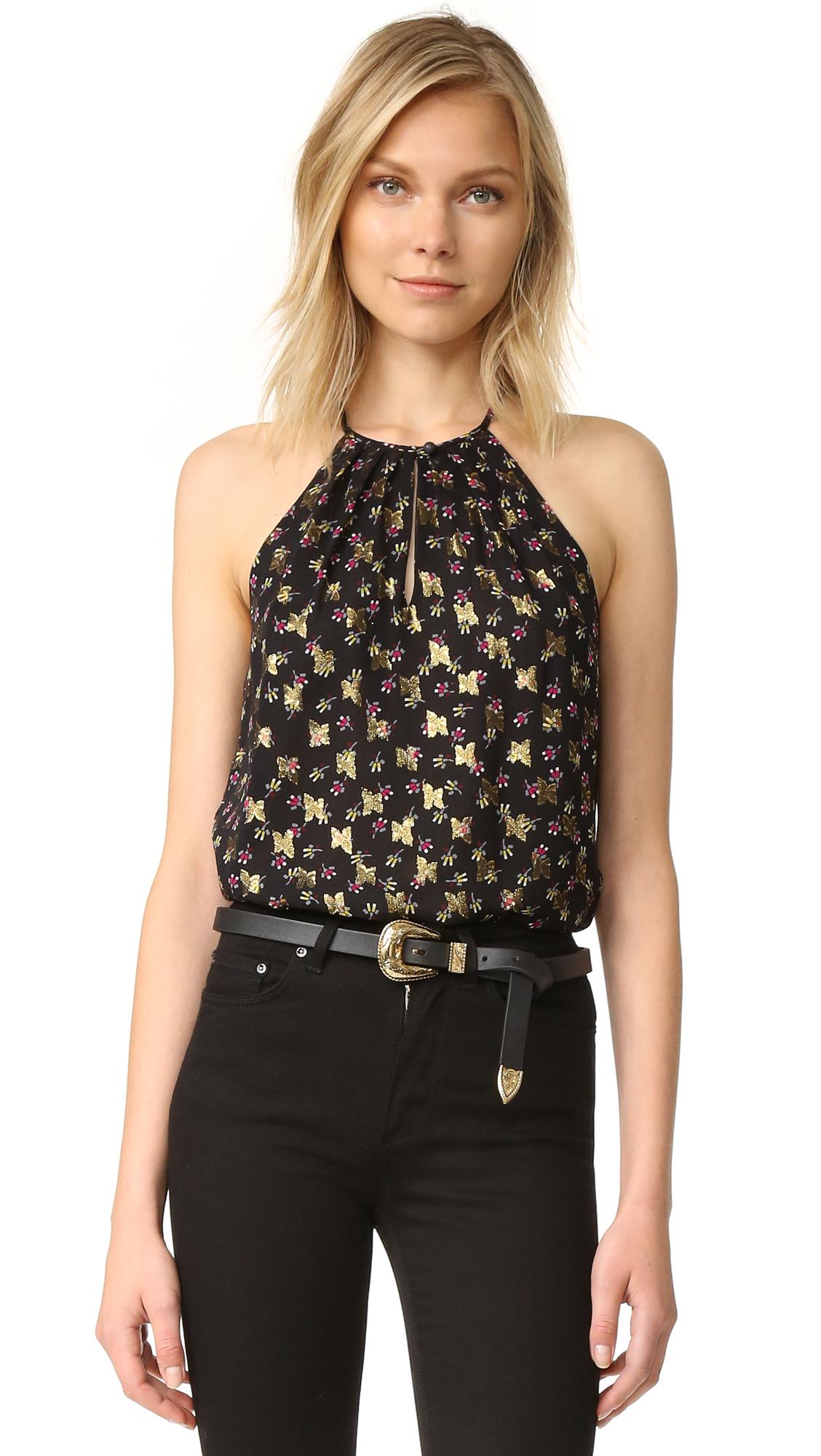 diane von furstenberg female diane von furstenberg jovia blouse tendu black