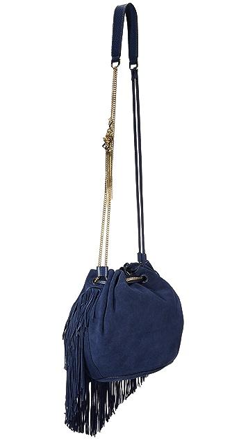 Diane von Furstenberg Love Power Large Suede Fringe Bag