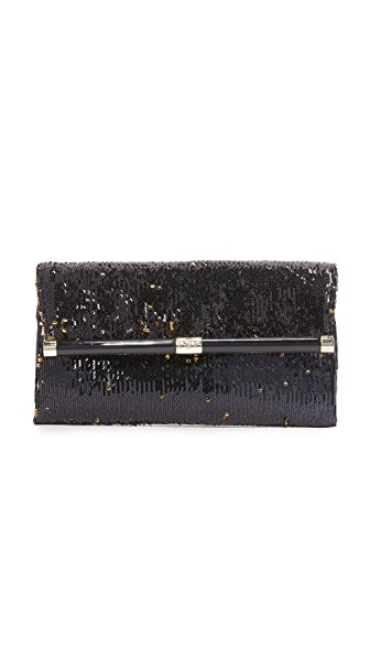 Diane von Furstenberg 440 Envelope Clutch - Black/Gold