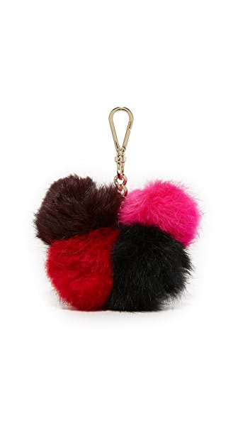 Diane von Furstenberg Medium Multi Fur Pom Pom
