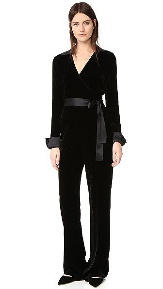 Diane von Furstenberg Long Sleeve Jumpsuit