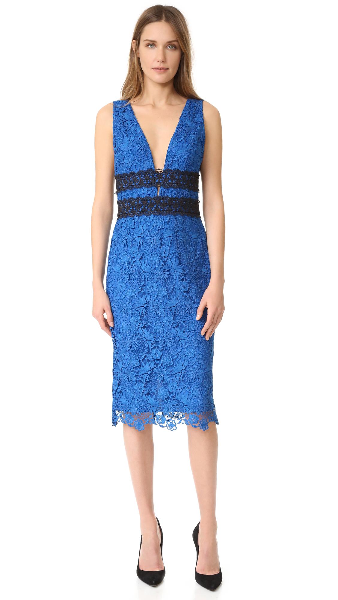 diane von furstenberg female diane von furstenberg viera lace dress neptune blueblack