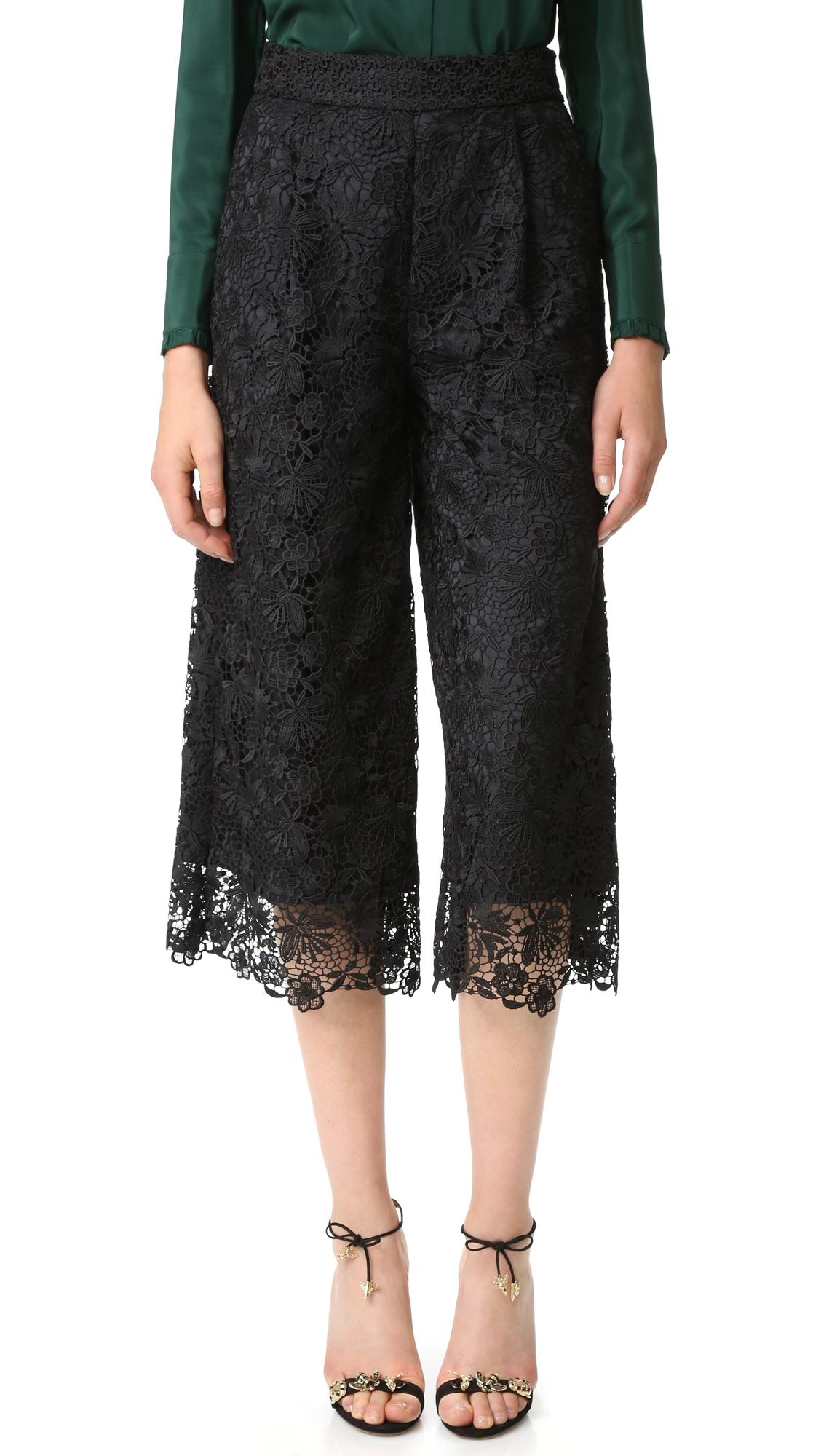 diane von furstenberg female diane von furstenberg dvf holly lace pants blackblack