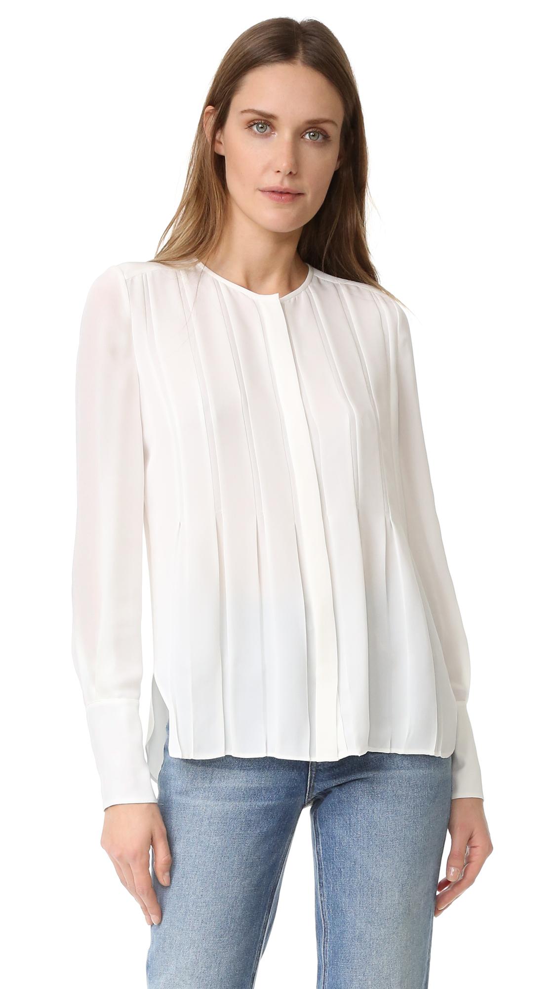 diane von furstenberg female diane von furstenberg vicky blouse ivory