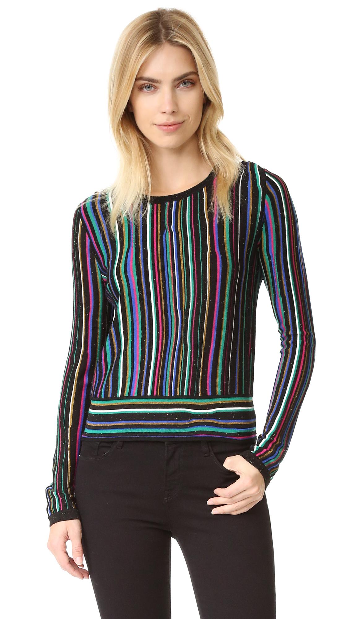 Diane Von Furstenberg Dvf Arisha Sweater - Laser Stripe