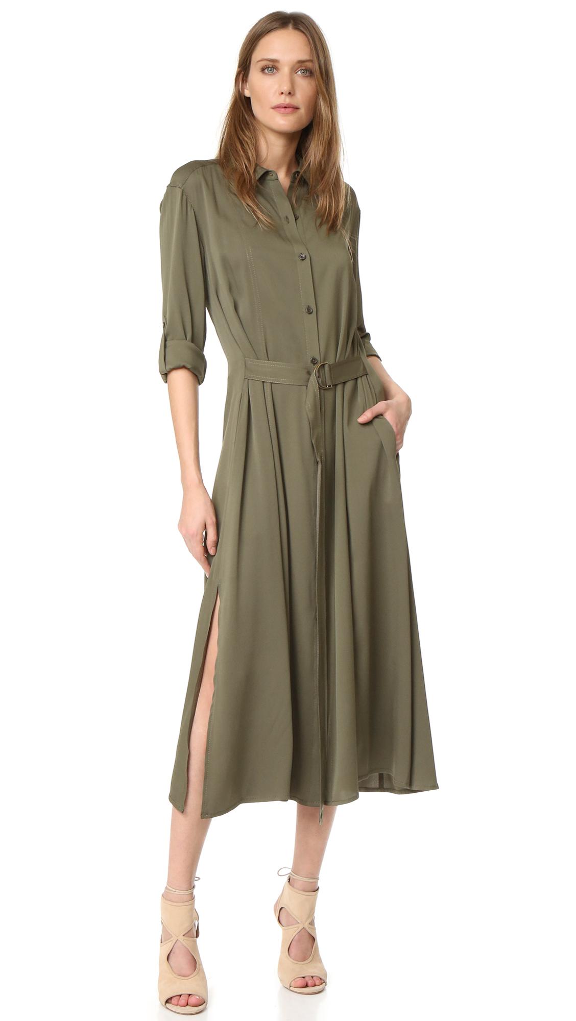 diane von furstenberg female diane von furstenberg clarise dress olive