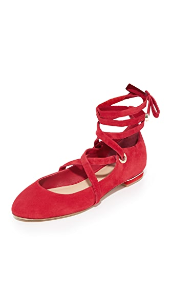 Diane von Furstenberg Dakar Lace Up Ballet Flats