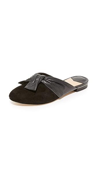 Diane von Furstenberg Doha Knot Mules - Black