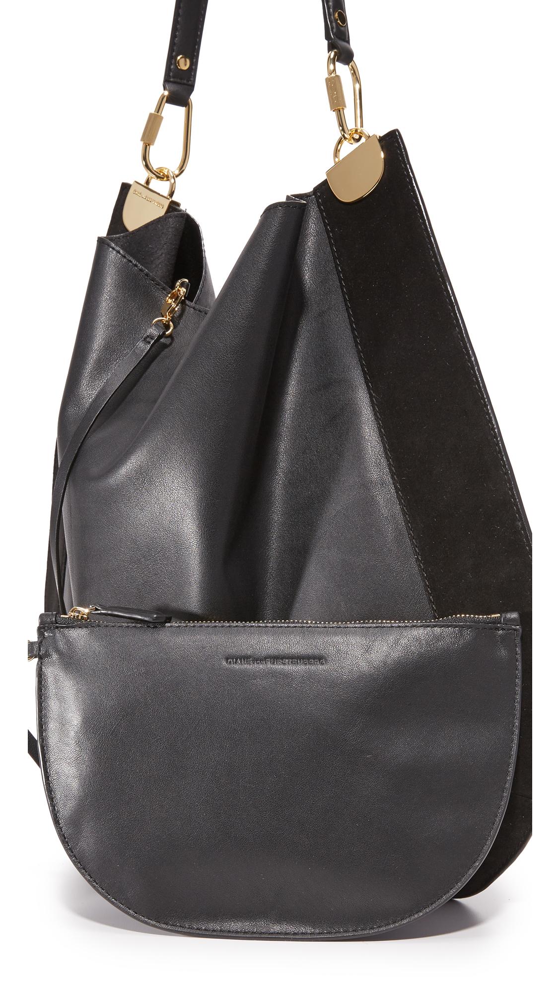 Diane von Furstenberg Large Leather & Suede Hobo Bag   SHOPBOP