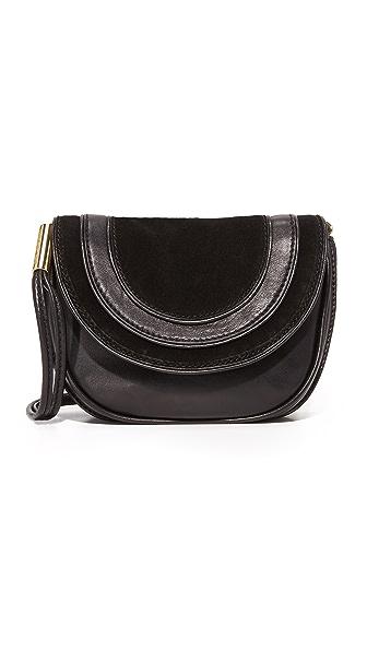 Diane von Furstenberg Маленькая седельная сумка из замши и кожи
