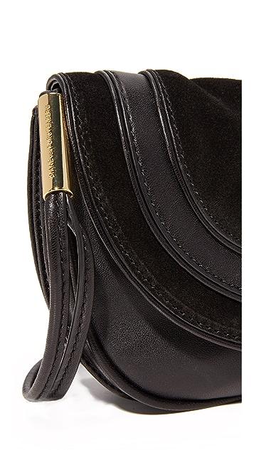 Diane von Furstenberg Mini Suede & Leather Saddle Bag