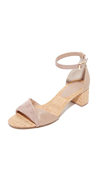 Diane von Furstenberg Florence City Sandals - Powder