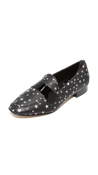 Diane von Furstenberg Lafayette Loafers - Black Multi Star