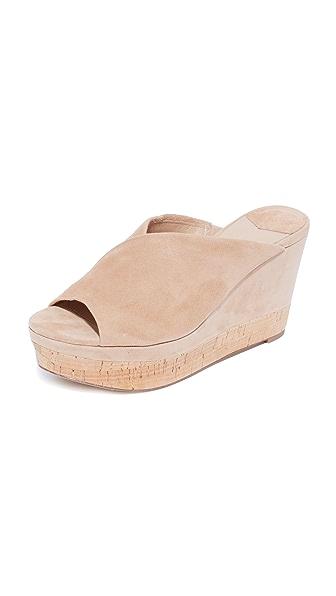 Diane von Furstenberg Manila Flatform Slides - Camel