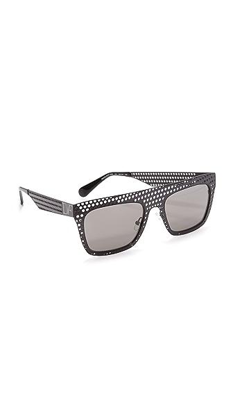 Diane von Furstenberg Солнцезащитные очки Grace с плоской верхней частью